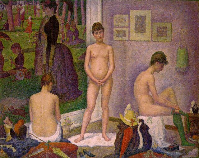 Georges Seurat (1859 - 1891) The Models (1888)