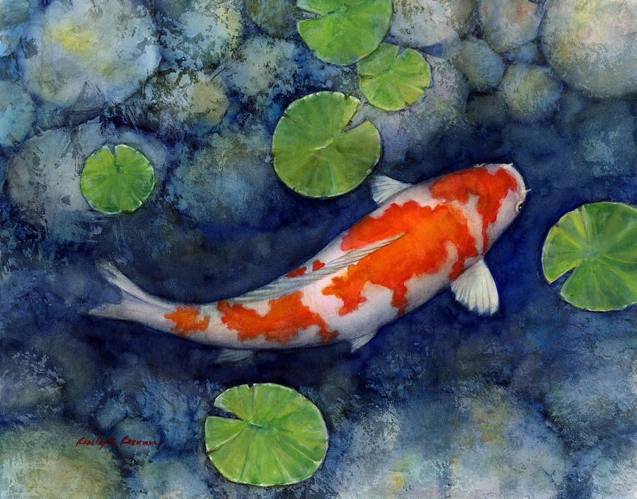 Koi Pond Koi Painting Koi Art Pond Painting