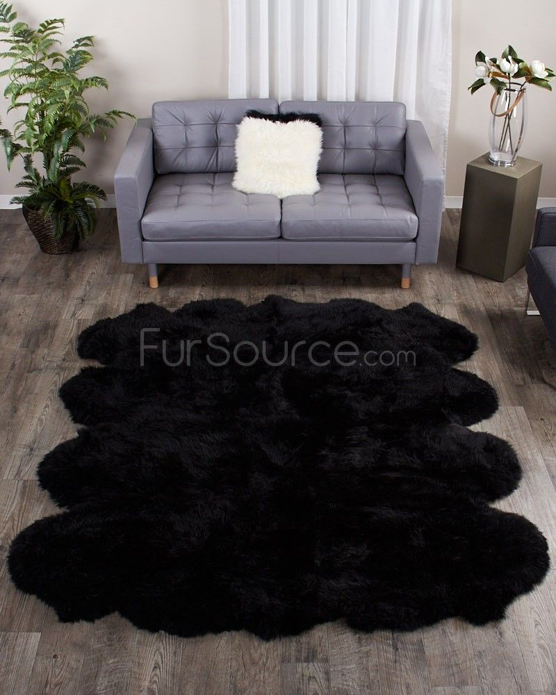 Amazon Com Black And White Rug Black Fur Rug Bedroom In 2020 Black Area Rugs Bedroom Rug Couch Covers