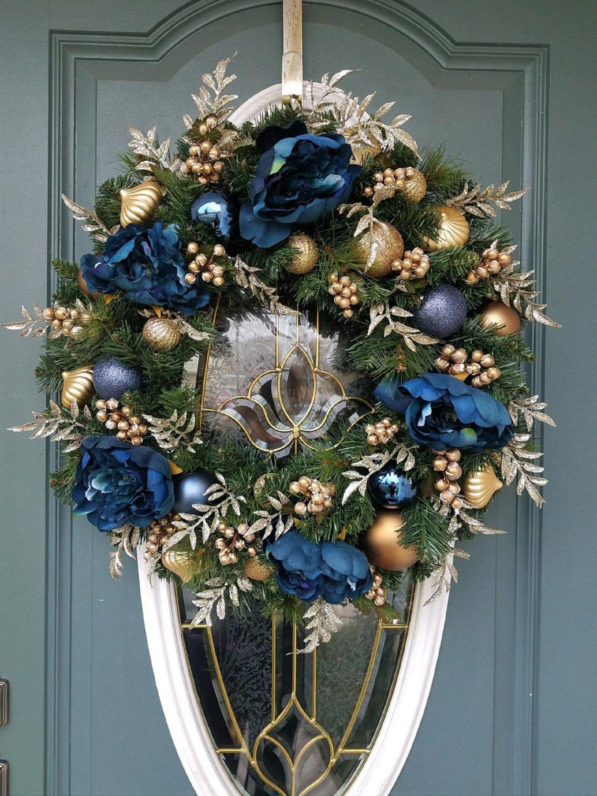 41++ Gold christmas wreath ideas