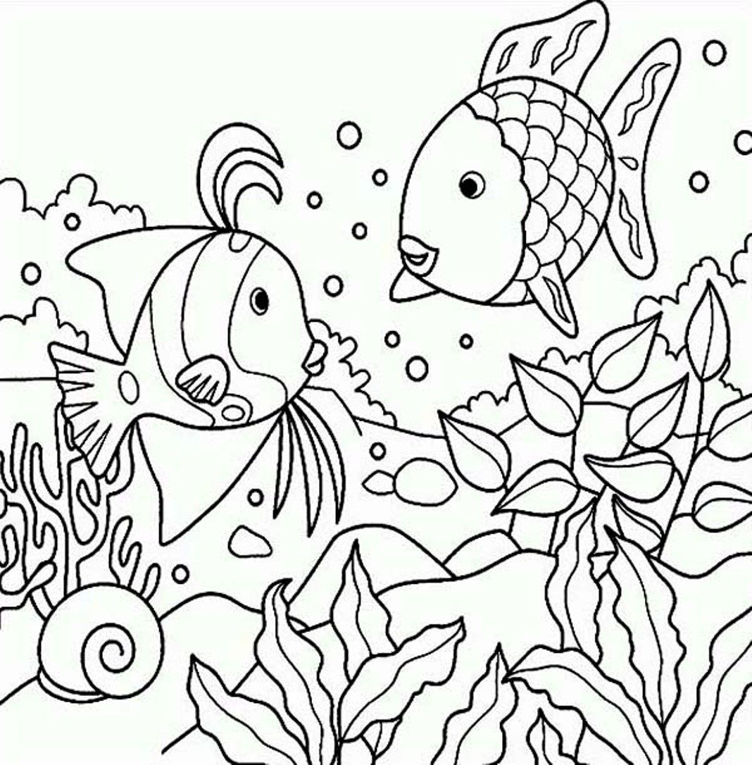 Printable coloring pages of fish - Fish Fish Coloring Pages