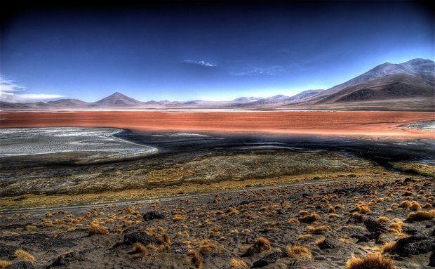 Laguna Colorada, between San Pedro de Atacama and Uyuni, Bolívia