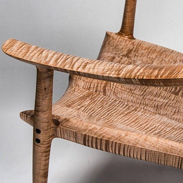 Remarkable Fiddleback Maple Chair Seat Woodgrain Grain Finefurniture Inzonedesignstudio Interior Chair Design Inzonedesignstudiocom