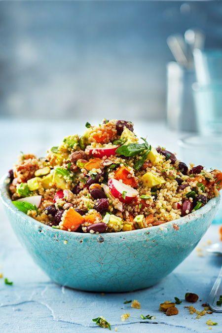 Quinoa-Salatsause trifft Süßkartoffel Rezept   LECKER