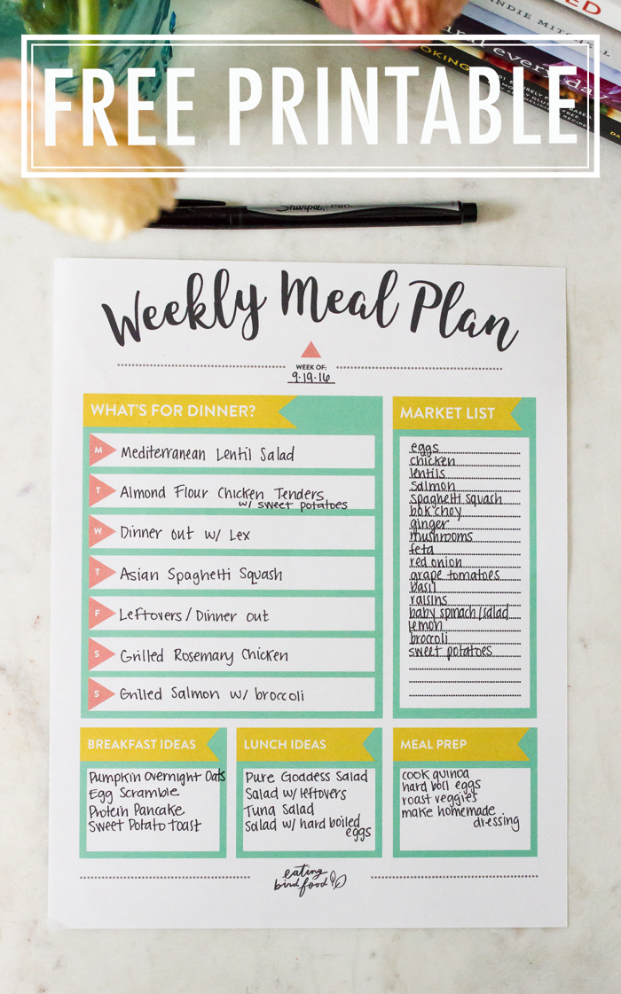 Meal Planning Tips + FREE Meal Planning Printable  Meal planning printable, Free meal plans