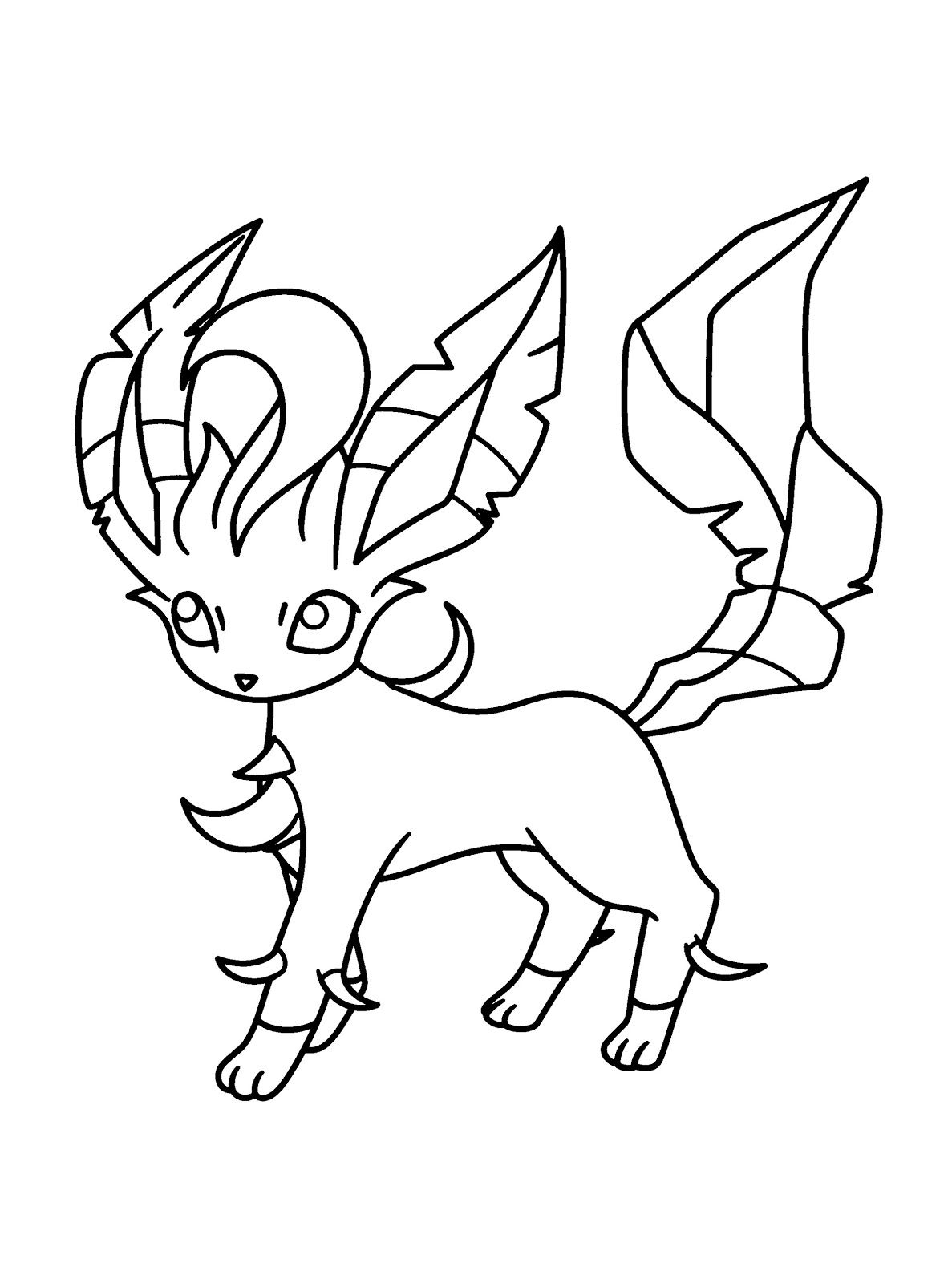 Leafeon Coloring Page Book Photos