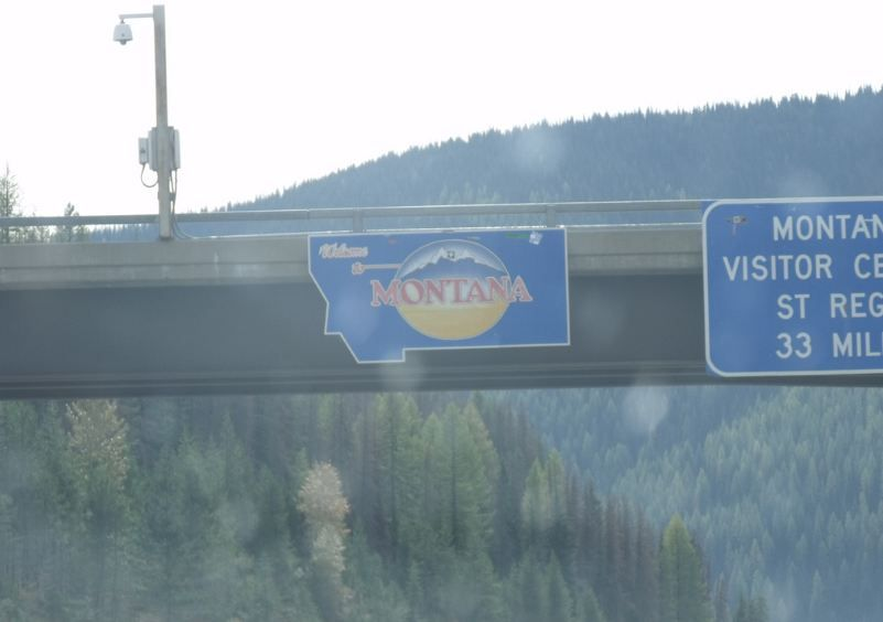 May 2012 - Entered Montana from Idaho on Interstate 90