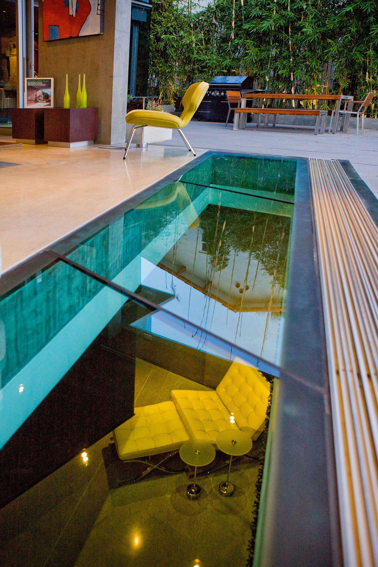 Lemperle Residence glass floor by Jonathan Segal