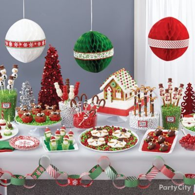 Christmas North Pole Treats Table Idea Christmas Birthday Party Christmas Buffet Christmas Candy Buffet