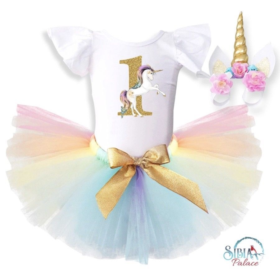0be435fcb 1 Year Girl Baby Birthday Dress RomperTutu DressHeadband Cheap ...