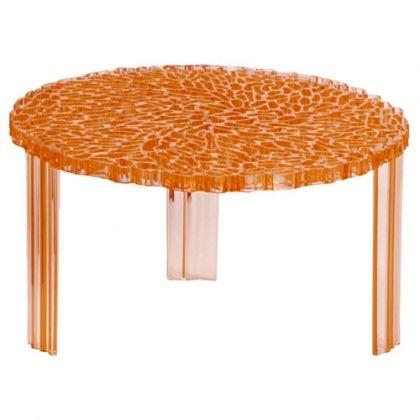 Table Basse T Table Hauteur 28 Cm De Kartell Transparent Ambre