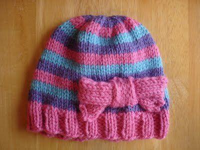 Free Knitting Pattern - Hats: Super Pink Toddler Hat