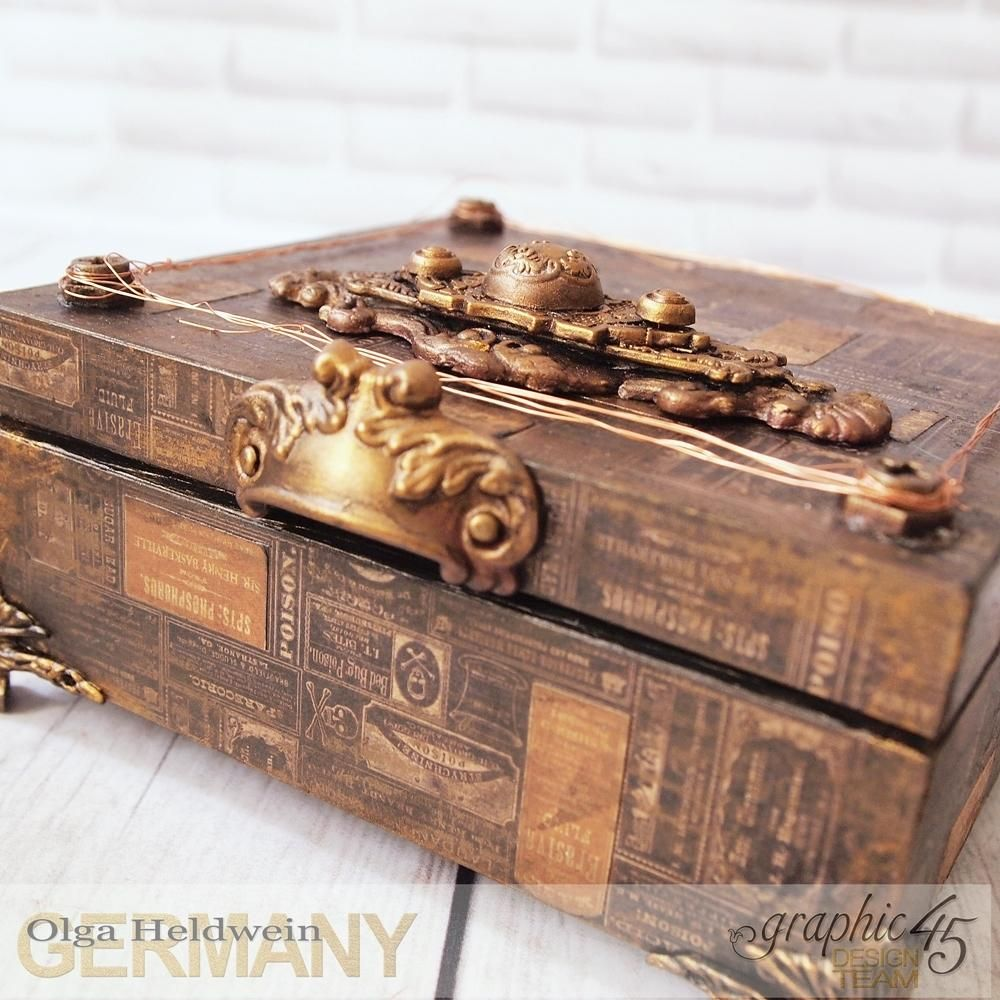 Steampunk Jewelry Box by Olga Heldwein featuring product by Graphic