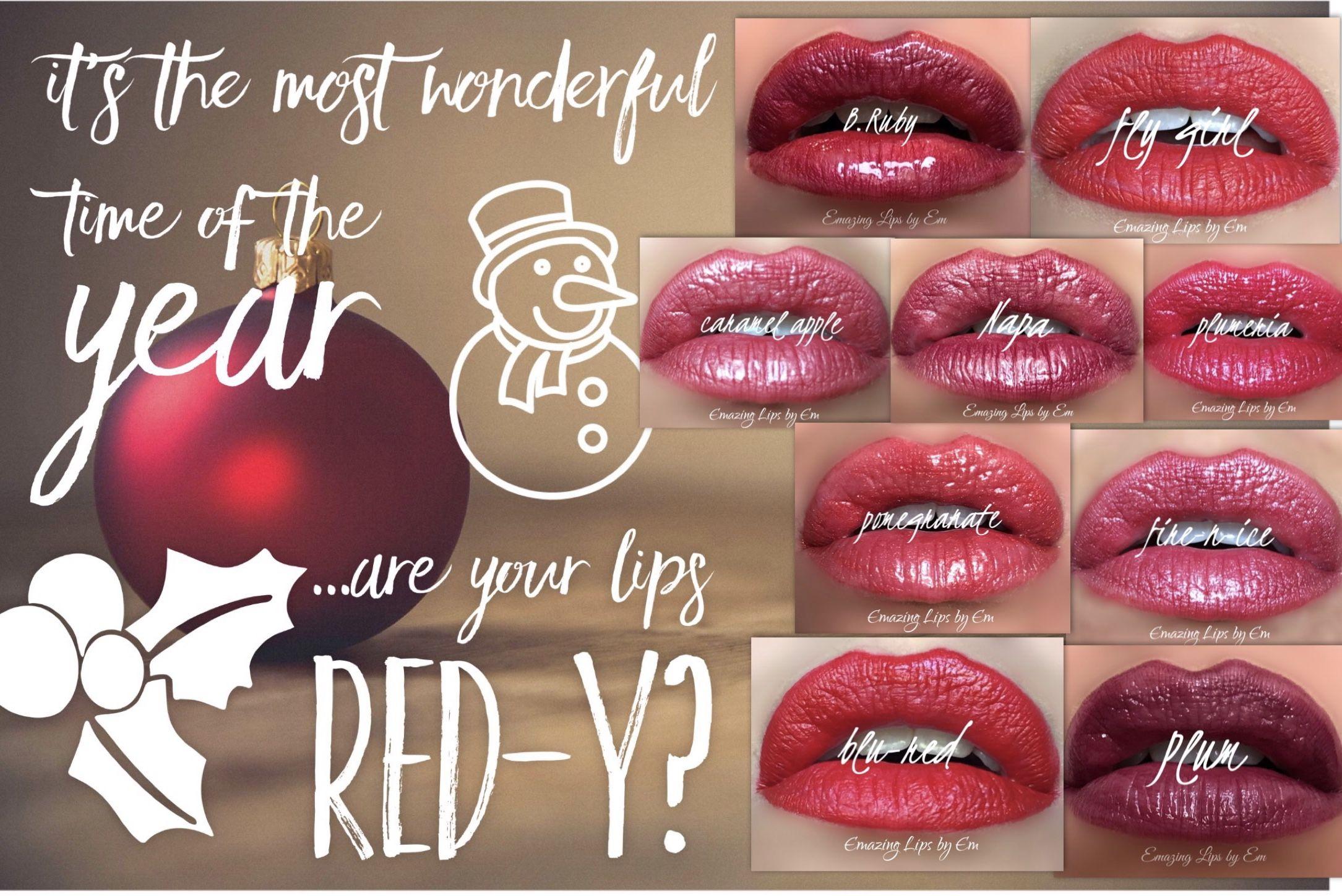 Christmas Lipsense Graphic Red Lips For Christmas Holiday