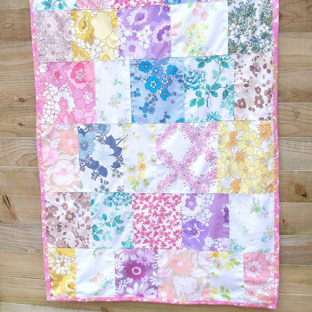 may quilt by my little red suitcase, via Flickr