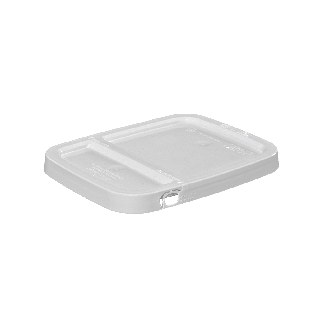 Illing Part 3e1dh 1 Gallon White Hdpe Ez Stor Hinged Tear Strip Cover 100 Ctn Ez Stor Containers Are Available In An Assortment Hinges Gallon Pail Bucket