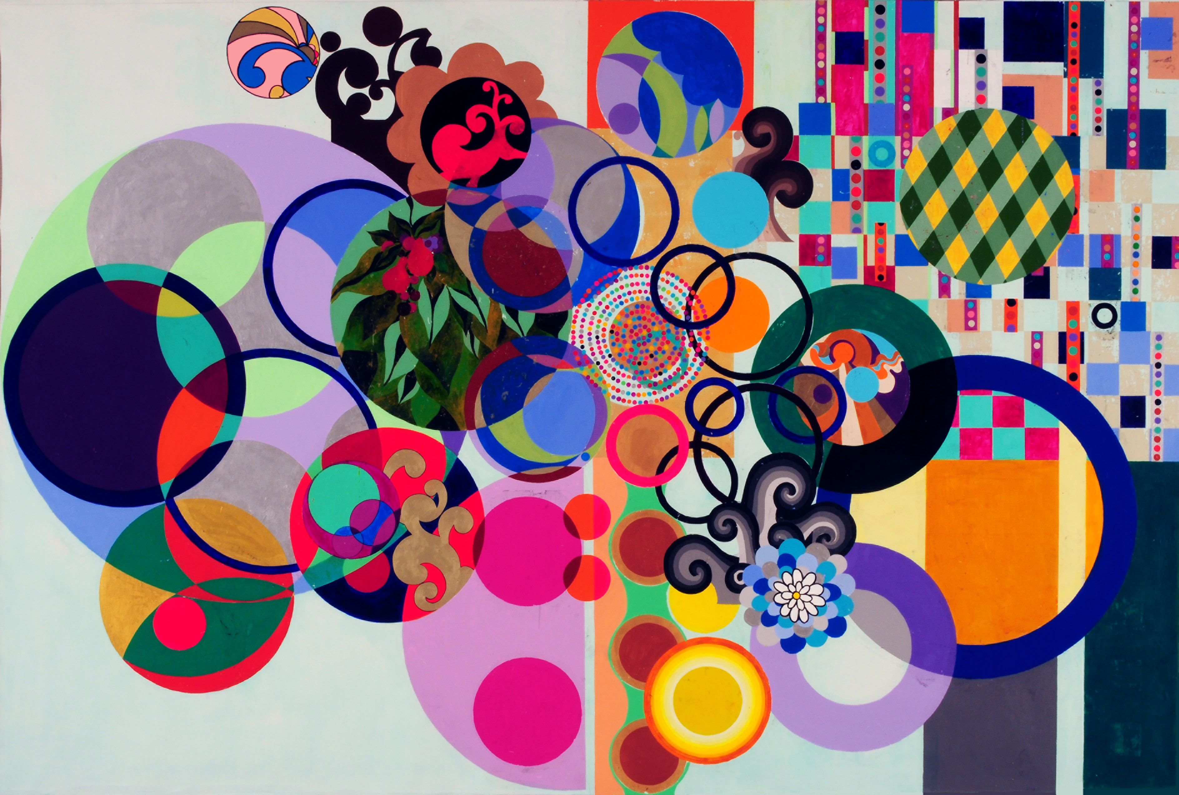 BEATRIZ MILHAZES - (born 1960) is a Brazilian artist. Milhazes is known for her work juxtaposing Brazilian cultural imagery and references to western Modernist painting.