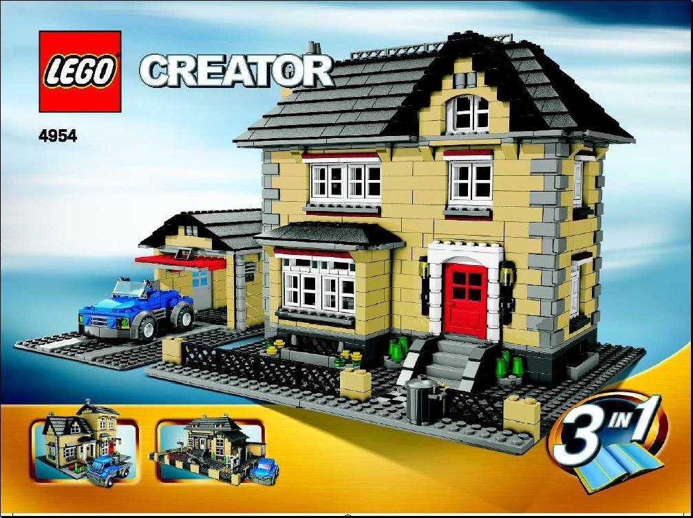 Lego Instructions 4954 Villa Legomania Pinterest Lego