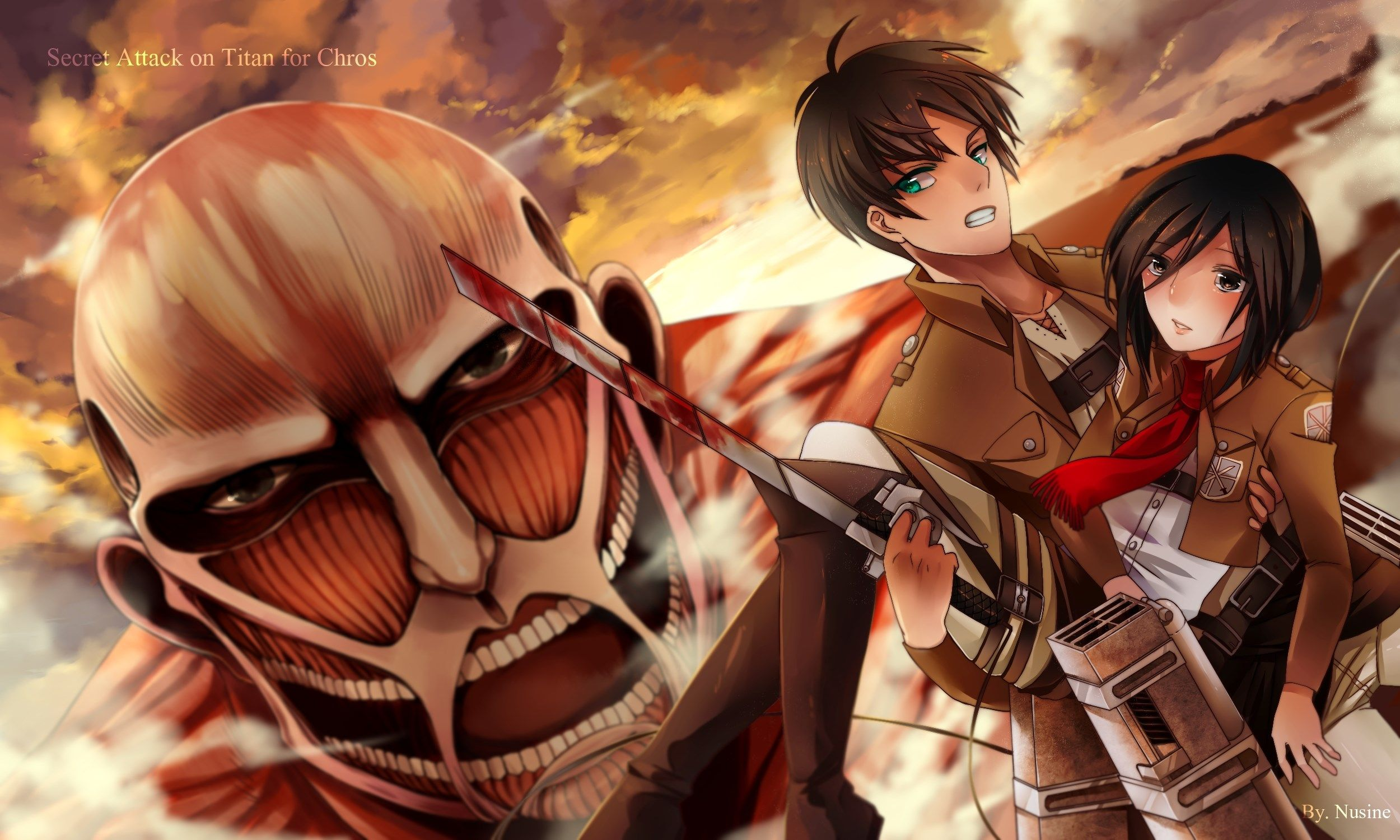 2500x1500 px Backgrounds In High Quality attack on titan