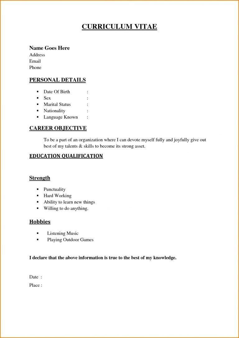 Benefits Of Having Basic Resume Examples Basic Resume Simple Resume Sample Basic Resume Format Simple resume format for job