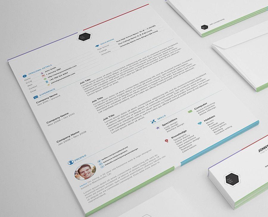Free Resume Templates Abduzeedo Design Inspiration