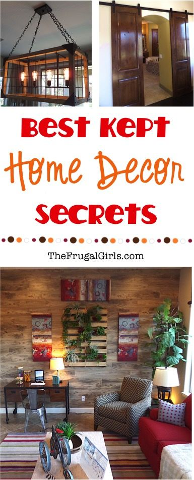 Best Kept Home Decor Secrets! ~ At Thefrugalgirls.Com ~ Get Ready