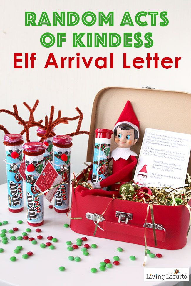 Random Acts Of Kindness Elf Arrival Letter And Gift Ideas