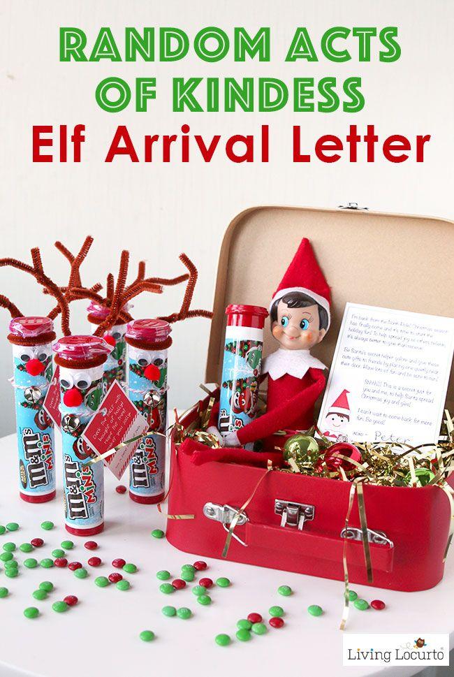 Random Acts of Kindness Elf Arrival Letter Kindness
