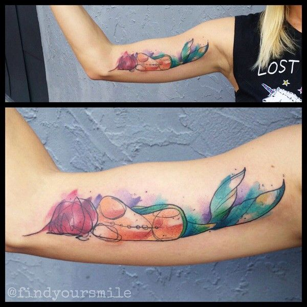 Watercolor Tattoo Artist Russell Van Schaick In Orlando Florida Mermaid Tattoos Tattoos Watercolor Tattoo Artists