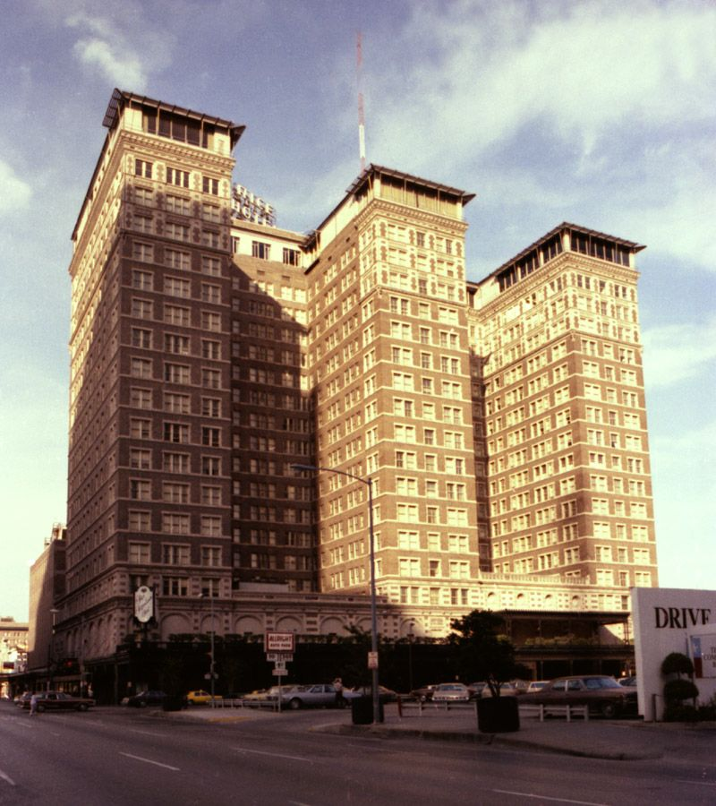 The Historic Rice Hotel In Houston Texas 1970's