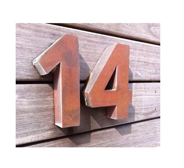 Copper House Numbers Copper House House Numbers Copper