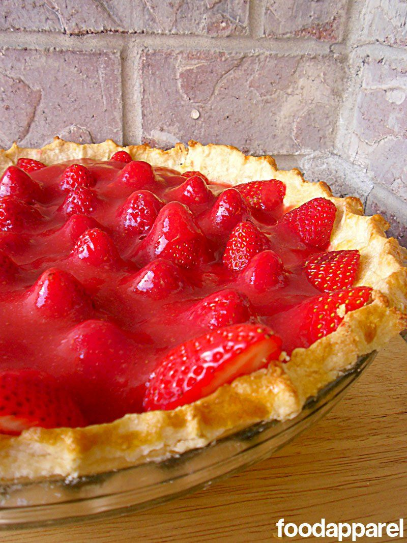 Fresh Strawberry Pie! I am determined to make a healthier version of this with some of my fresh strawberries I picked by using whole wheat flour, chia seeds, applesauce n avocados! Goal is no butter and no sugar