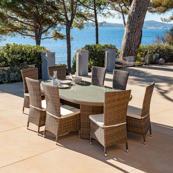 Table de jardin ovale Calvi - S pia | WEEK-END EN PROVENCE ...