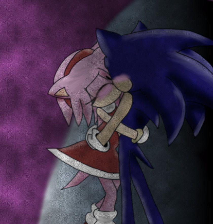 Sonamy Kiss By Shadowsmyhottie14 Sonic And Amy Sonic Sonic Art