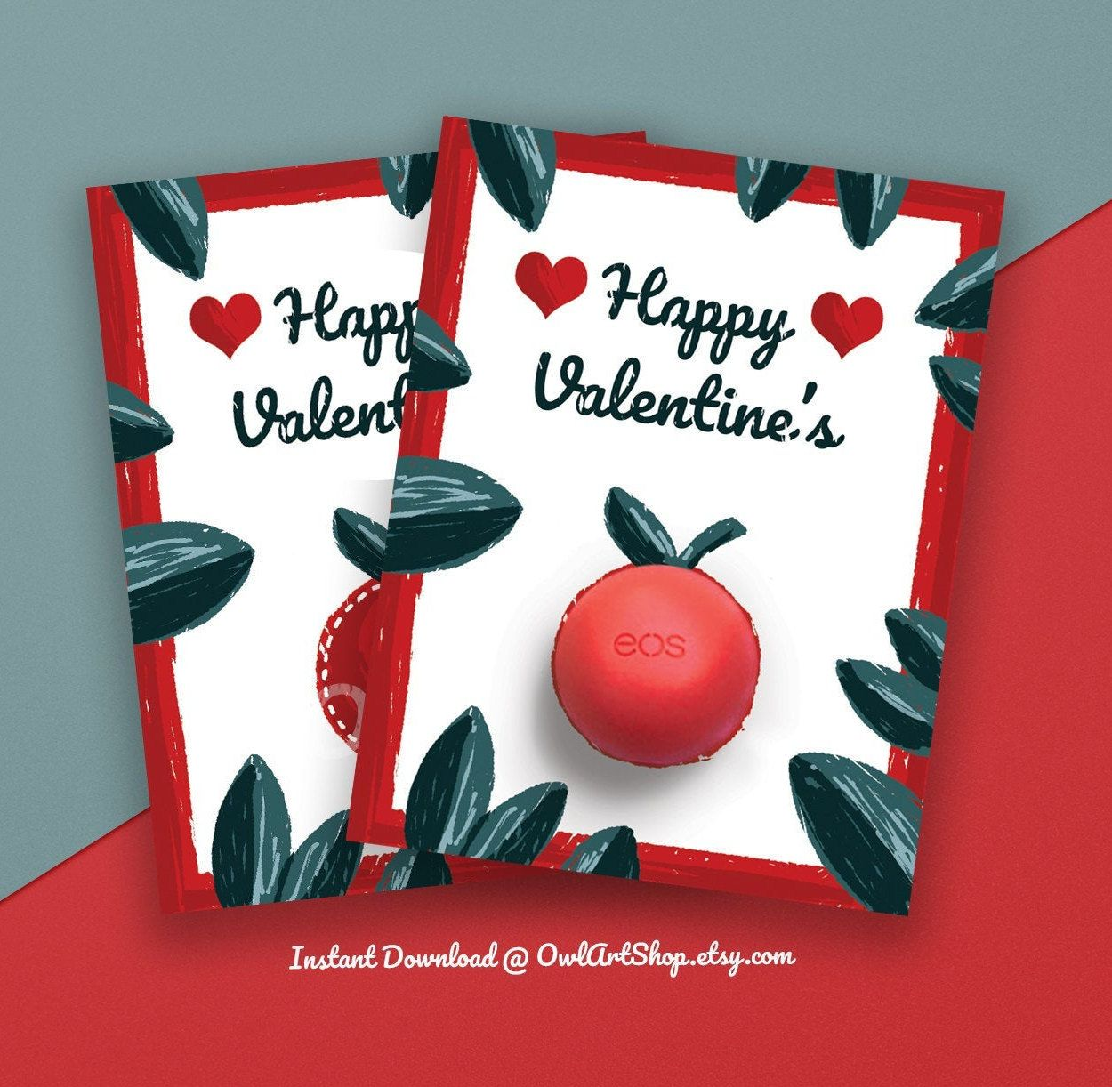 valentines eos teacher lip balm holder last minute gift