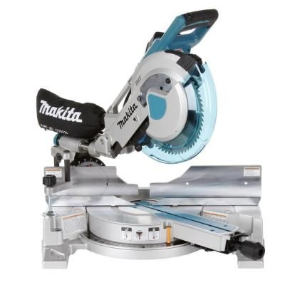 Makita 15 amp 10 in corded double bevel sliding compound miter saw corded double bevel sliding compound miter saw with laser and blade dust bag clamp wrench triangle ls1016l the home depot greentooth Gallery