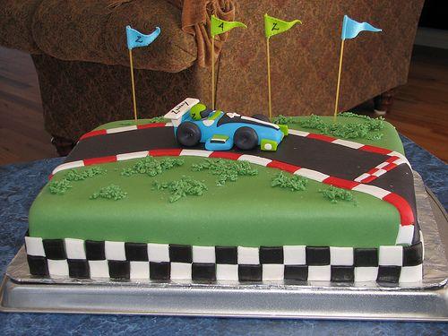 Cake Fondant Race Car Birthday Car Cakes Cake And Birthdays