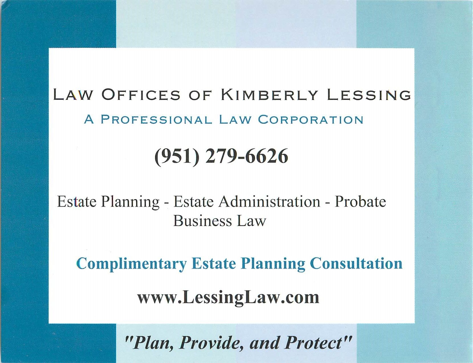 Initial Consultation Free! Mention this post! lessinglaw