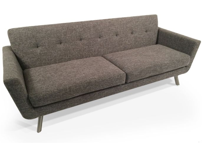 Modern Sectional Sofas Nixon Sofa With Metal Base l Thrive Furniture l Handmade Midcentury Modern Fabric shown not available