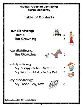 Diphthongs Ow Ou And Oi Oy Diphthongs Poems Diphthongs Phonics Diphthongs ou ow oi oy worksheets