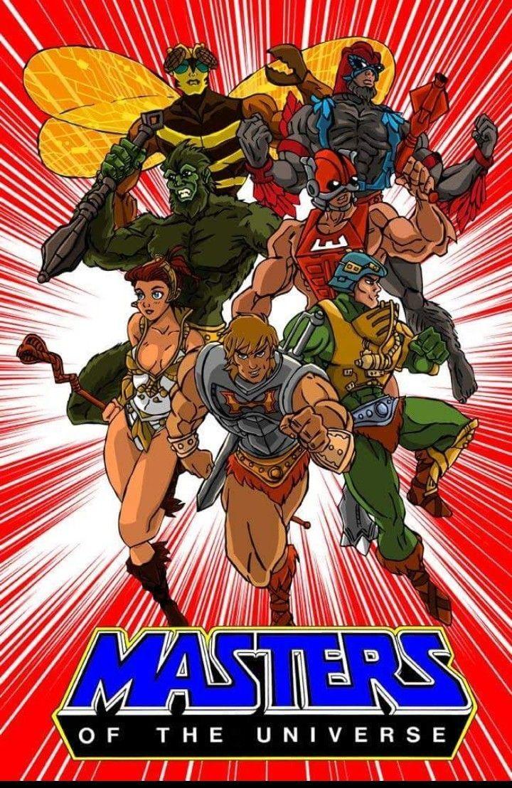 80s cartoons poster motu heman cartoons 80s 2020