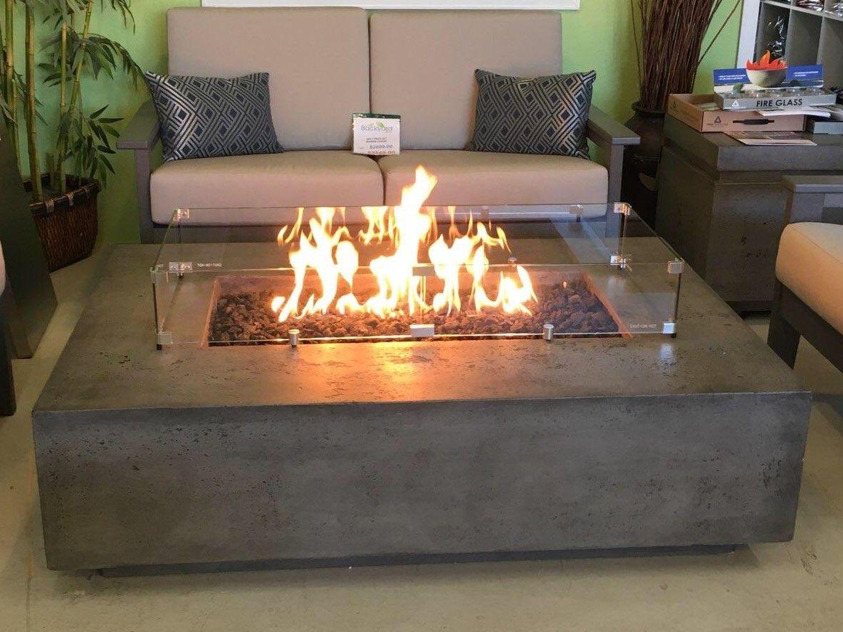 Prism Tavola 1 Modern Concrete Fire Table Fire Pit Table Fire