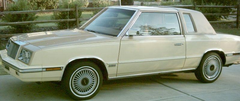 1985 Chrysler Lebaron Coupe With Images Automobile Chrysler