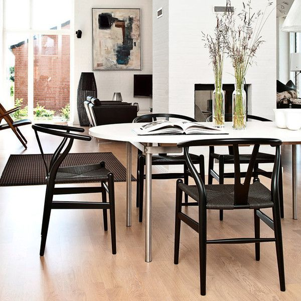 All Wood Dining Room Chairs: Wegner CH24 Wishbone Chair - Quick-Ship In 2019