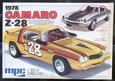 Original 70s Mpc 1 25 Scale 1978 Z 28 Camaro Kit Camaro Model Cars Kits Plastic Model Kits