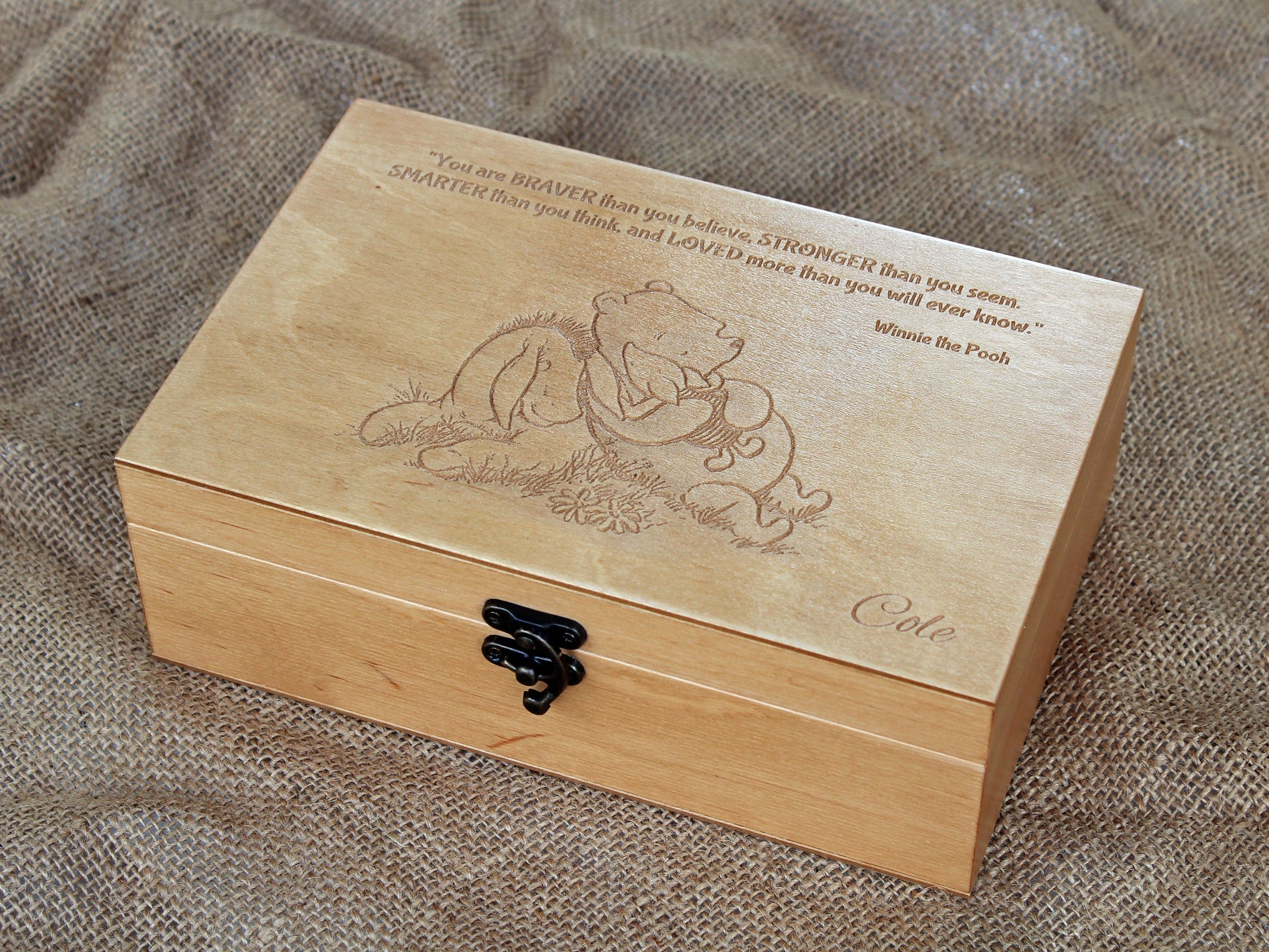 Custom Quote Wooden Box Memory Box Engraved Quote Box Etsy Memory Box Engraved Jewelry Box Keepsake Boxes