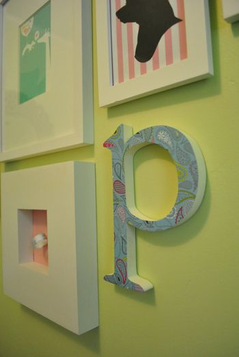 diy decorated letter
