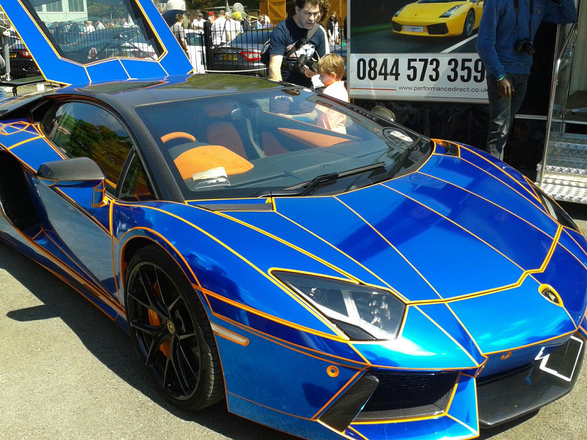 Lamborghini aventador (chrome stickers)