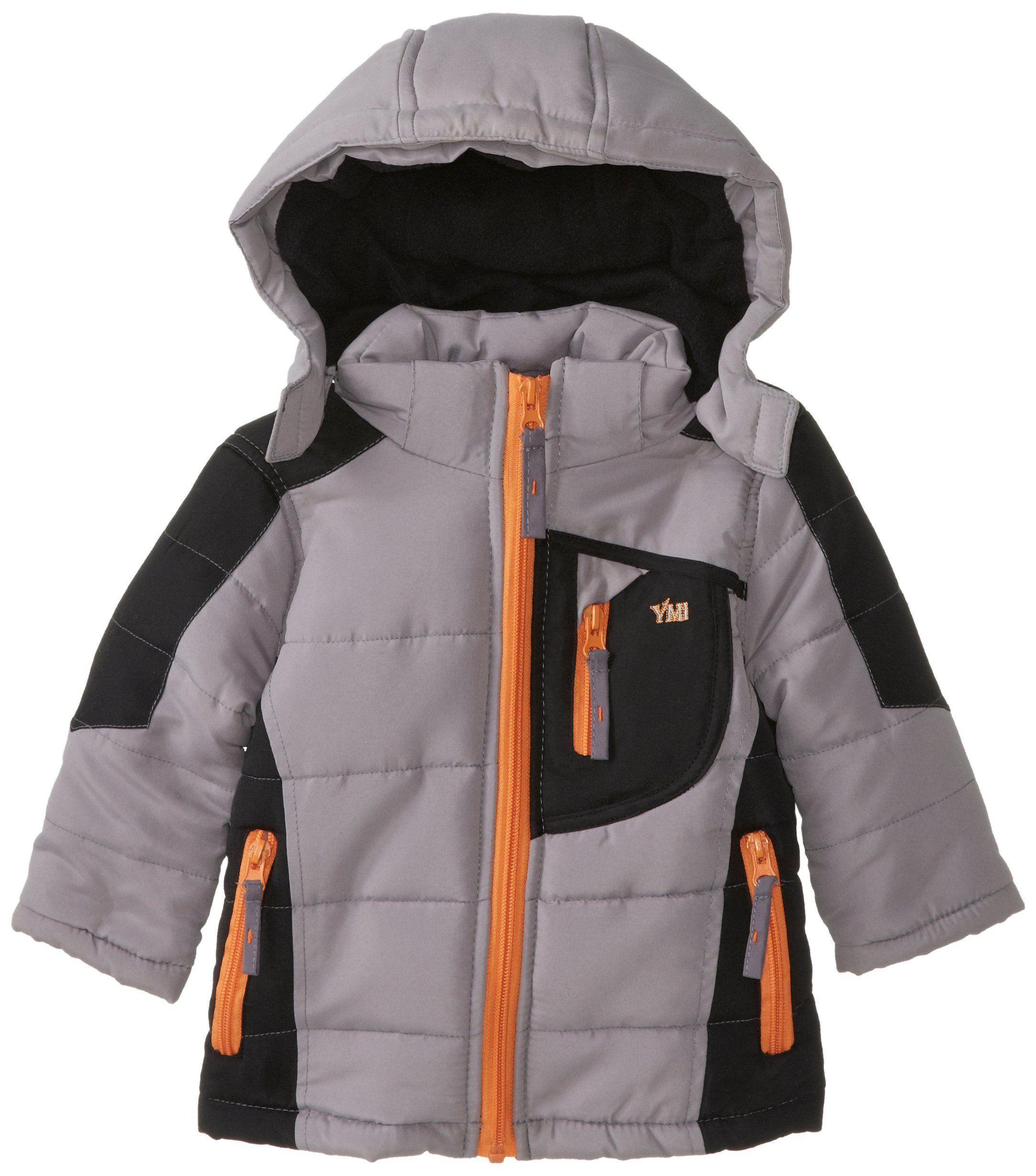Amazon YMI Baby Boys Infant Hooded Color Block Bubble Jacket