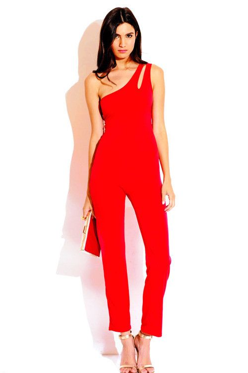 8ab37ec3bc7f Olivia - Red One Shoulder Jumpsuit With Cut Out Back – Heaven    HelFyre--get 25% off with code NEWCUST25